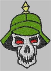 German Soldier Helmet embroidery design