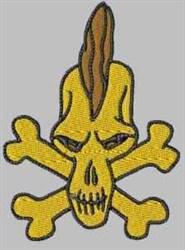 Mohawk Skull embroidery design