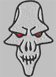 Long Skull embroidery design