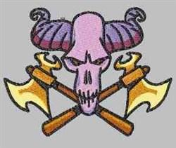 Axe Skull embroidery design