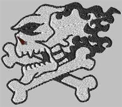Black & white Skull embroidery design