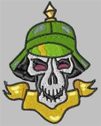 Blank Caption Skull embroidery design
