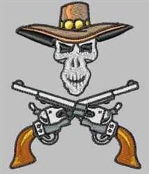 Skull & Pistols embroidery design