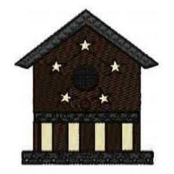 Stars Birdhouse embroidery design