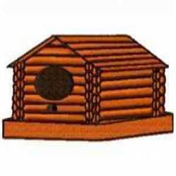 Log Birdhouse embroidery design