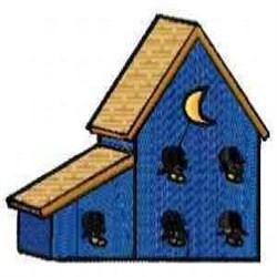 Moon Birdhouse embroidery design