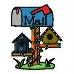 Mail Birdhouse embroidery design