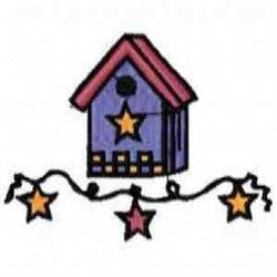 Star Birdhouse embroidery design