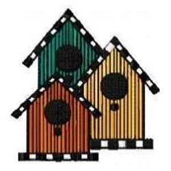 Birdhouses embroidery design