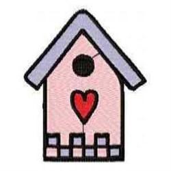 Love Birdhouse embroidery design