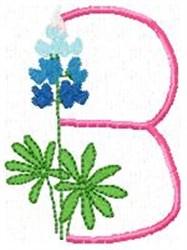 Blue Bonnet B embroidery design