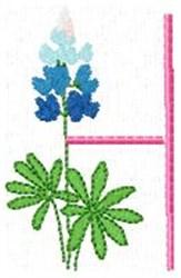 Blue Bonnet H embroidery design