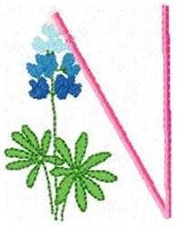Blue Bonnet N embroidery design