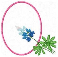 Blue Bonnet Q embroidery design