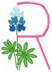 Blue Bonnet R embroidery design