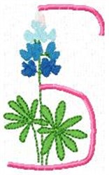 Blue Bonnet S embroidery design