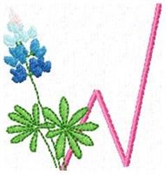 Blue Bonnet W embroidery design