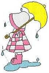 Rain Drops Sue embroidery design