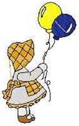 Balloons Sue embroidery design
