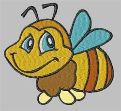 Cute Bee embroidery design