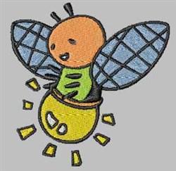 Light Bug embroidery design