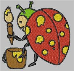 Painting Ladybug embroidery design