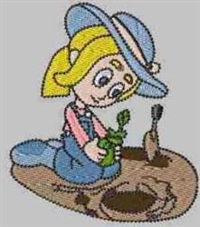Gardener Carla embroidery design