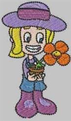 Flower Pot Carla embroidery design