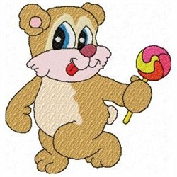 Candy Lolly Bear embroidery design