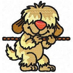 Tugging Dog embroidery design