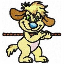 Tug o War Dog embroidery design