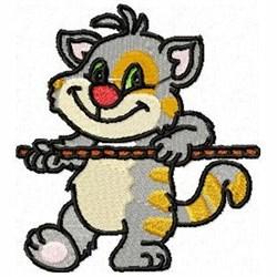 Tug War Cat embroidery design