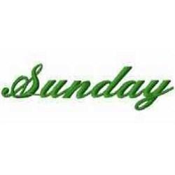 Sunday embroidery design