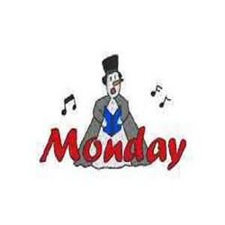 Snowman Monday embroidery design