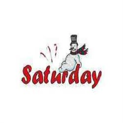 Snowman Saturday embroidery design