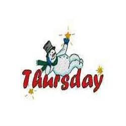 Snowman Thursday embroidery design