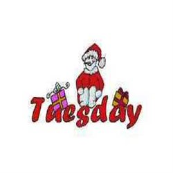Snowman Tuesday embroidery design