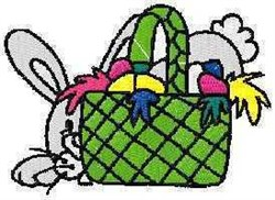 Bunny Basket embroidery design