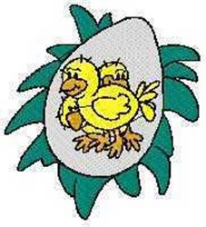 Chicks in Egg embroidery design