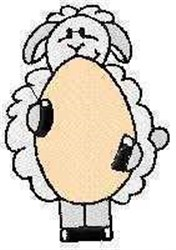 Easter Egg Lamb embroidery design