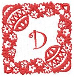 Easter Alpha D embroidery design