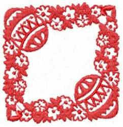 Easter Alpha Frame embroidery design