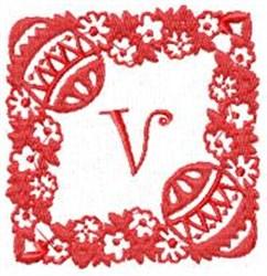Easter Alpha V embroidery design