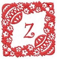 Easter Alpha Z embroidery design