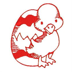 Redwork Easter Duck embroidery design