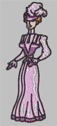 Chic Woman embroidery design