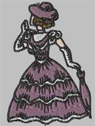 Fancy Lady embroidery design