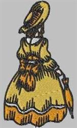 Elegant Woman embroidery design