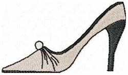 Siletto Shoe embroidery design