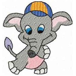 Boy Elephant embroidery design